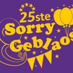 Sorry Geblaos 2020, de 25ste!!!